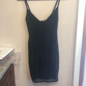 Black Sheer Mini Dress
